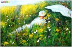 Auf der Wiese - Claude Monet, 1876