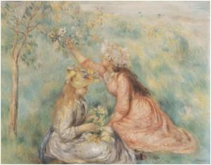 Junge Mädchen auf der Wiese - Renoir, 1890-94