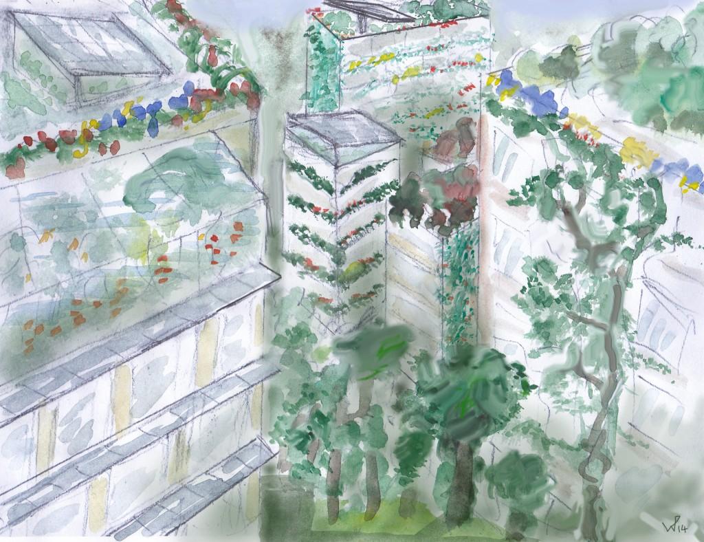 Die Stadt als Garten – die Gärten der Semiramis könnten ein Vorbild sein