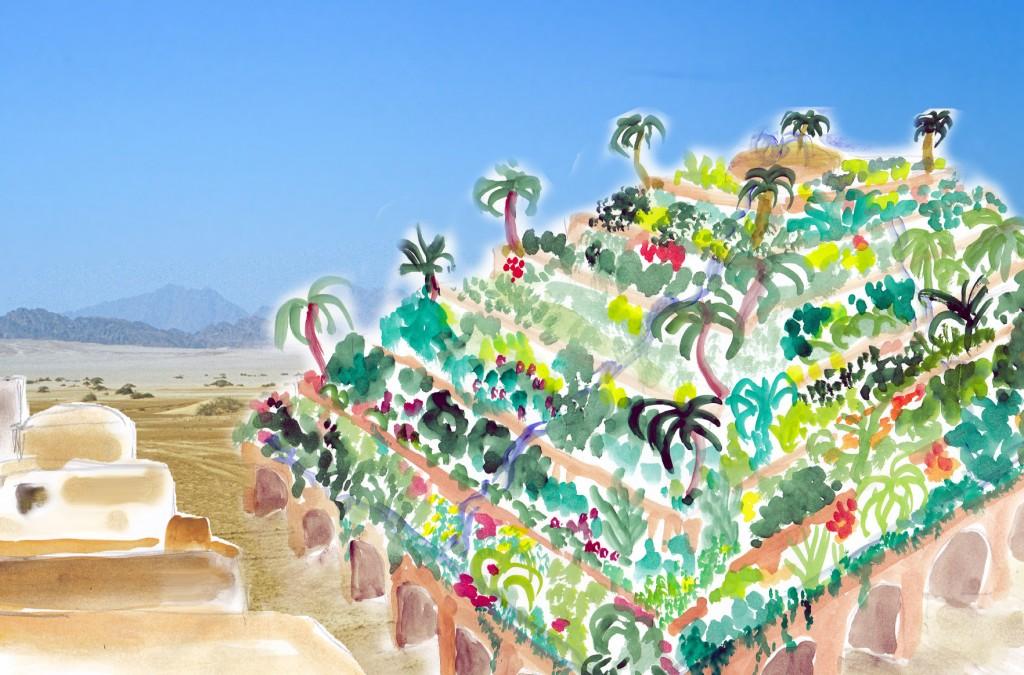 So könnten die hängenden Gärten in Babylon ausgesehen haben