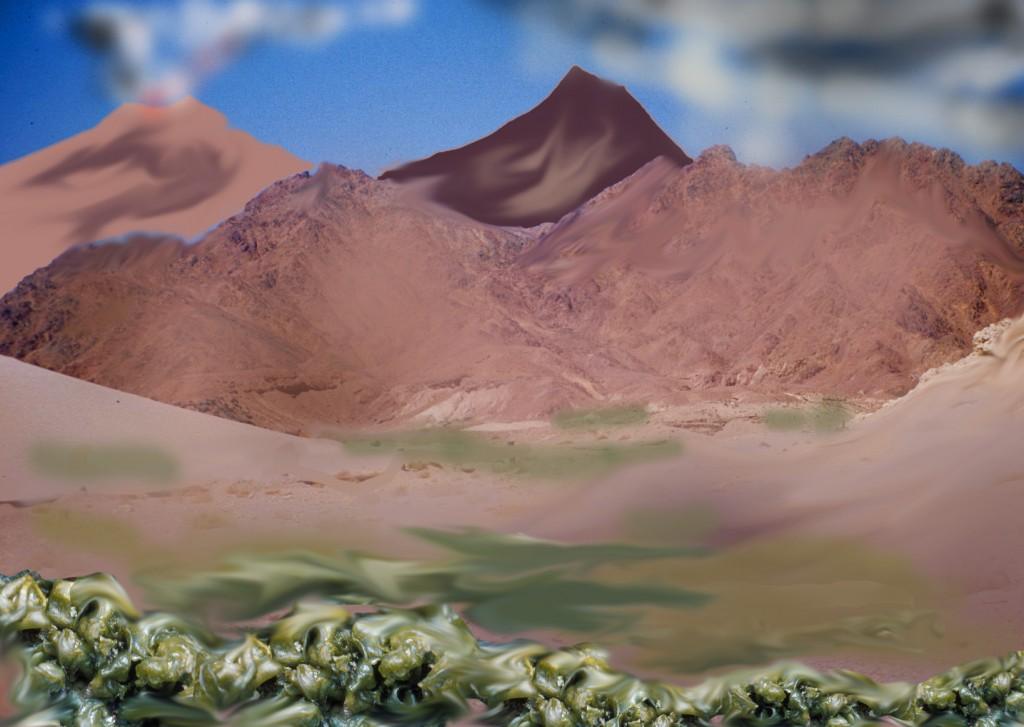 Auf der Erde vor 2,5 Milliarden Jahren - mit Blaugrünen Bakterien