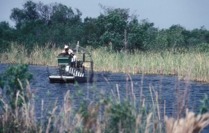 Air-Boat in den Everglades, Florida, 1983