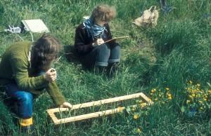 Auf einer Exkursion am 3^.5.1980 an der Rodau, PH Flensburg
