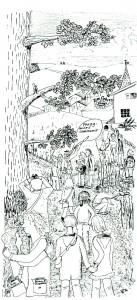 Eindruck von einer Botanischen Exkursion um 1965 (aus: Botanische Exkursionen im Winterhalbjahr)