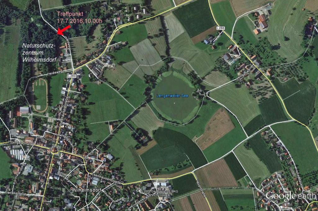 Treffpunkt am 17.7.2016 beim Naturschutzzentrum Wilhelmsdorf